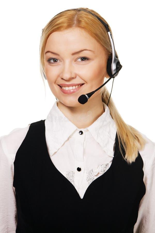 Professionnel de centre d'attention téléphonique photo libre de droits