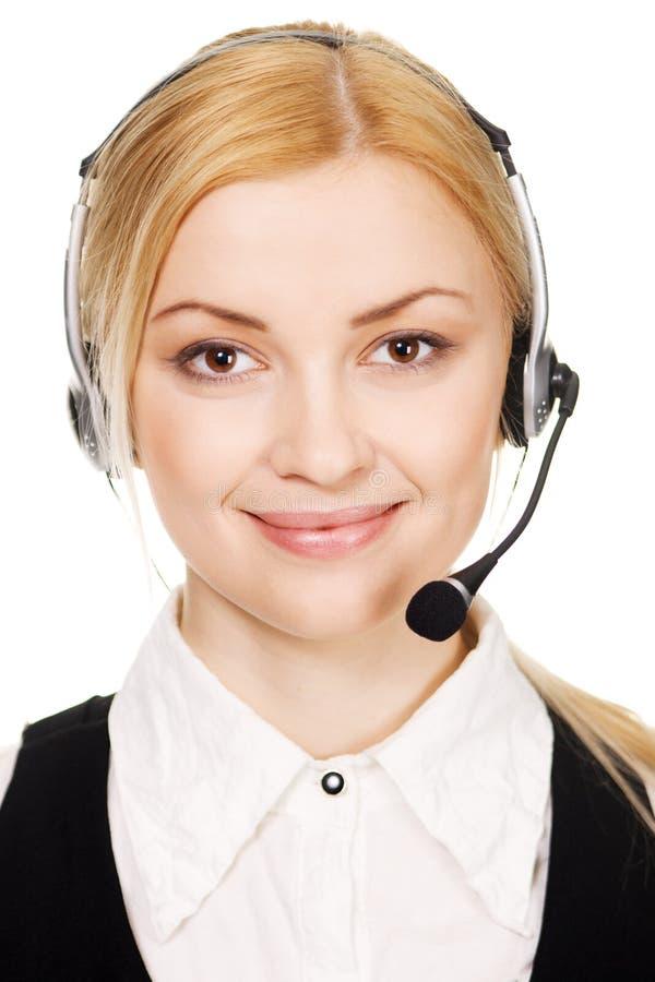 Professionnel de centre d'attention téléphonique photos stock