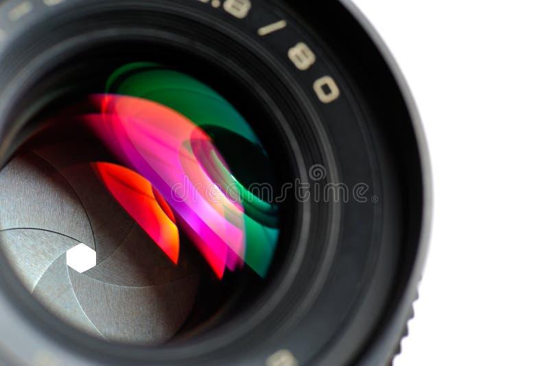 professionnel de photo de lentille de plan rapproché photographie stock