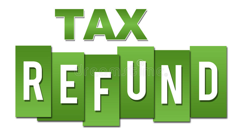 Professionnel de vert de remboursement d'impôt fiscal illustration de vecteur