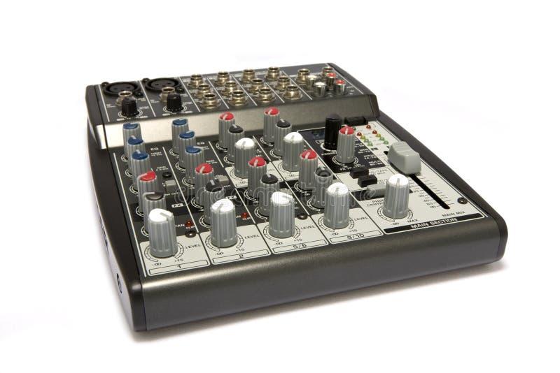 Professionnel DJ/mélangeur acoustique de karaoke photographie stock