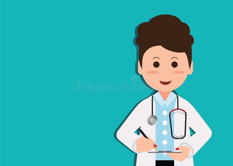 Download Professionnel Médical Dans Le Costume écrivant Les Disques Médicaux à L'agrafe Illustration de Vecteur - Illustration du remplissage, professionnel: 87703089