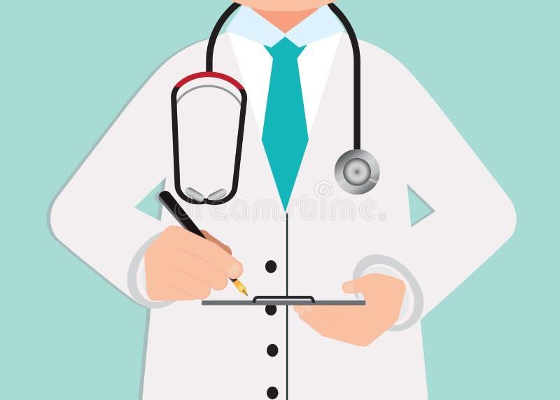 Download Professionnel Médical Dans Le Costume écrivant Les Disques Médicaux à L'agrafe Illustration de Vecteur - Illustration du praticien, médecin: 87703176