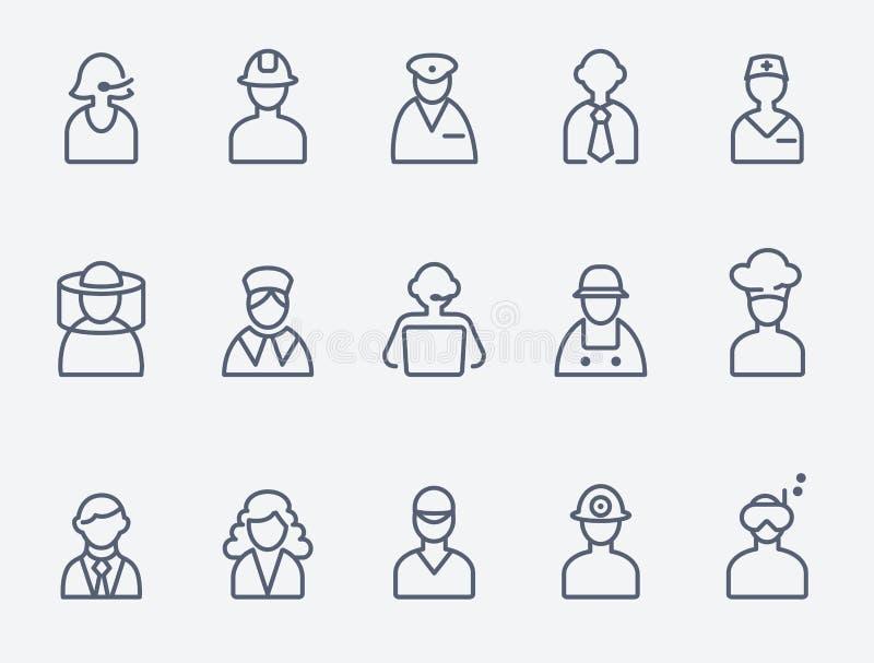 Professionnels, icônes de personnes illustration libre de droits