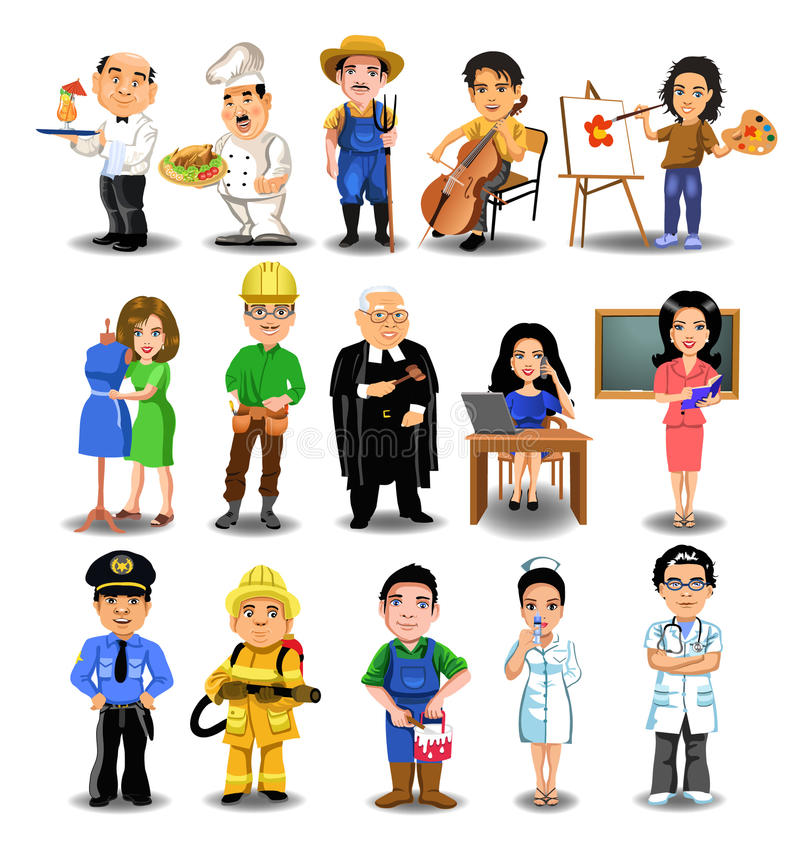 Professions collection royalty free illustration