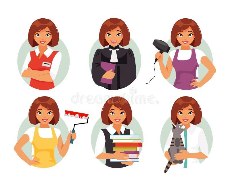 Professions de femmes illustration de vecteur