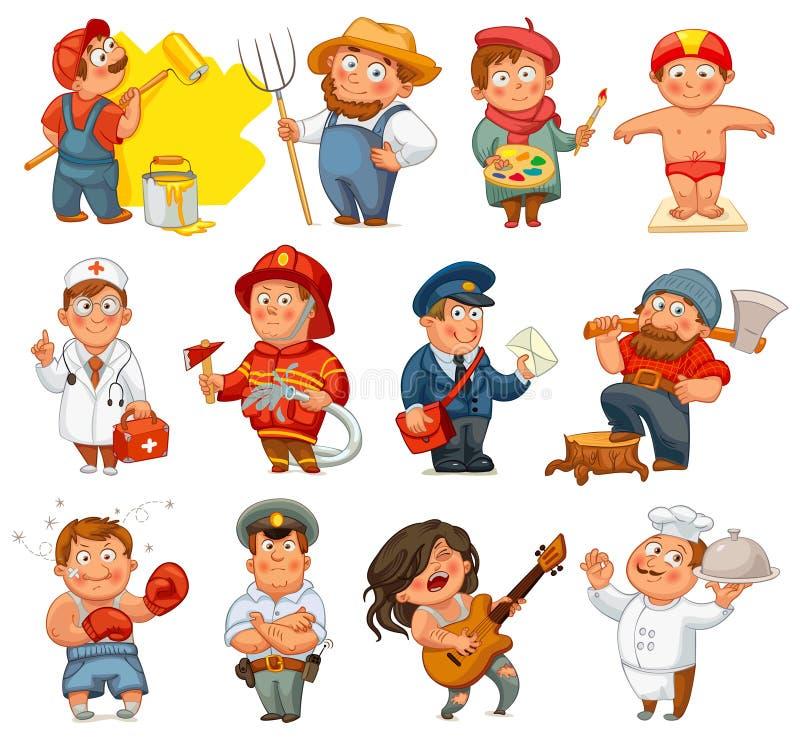 Professions royalty free illustration