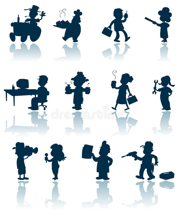 Download Professions Vector Silhouette Stock Images - Image: 17720954