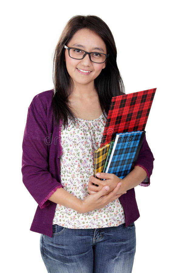 Professor asiático amigável foto de stock