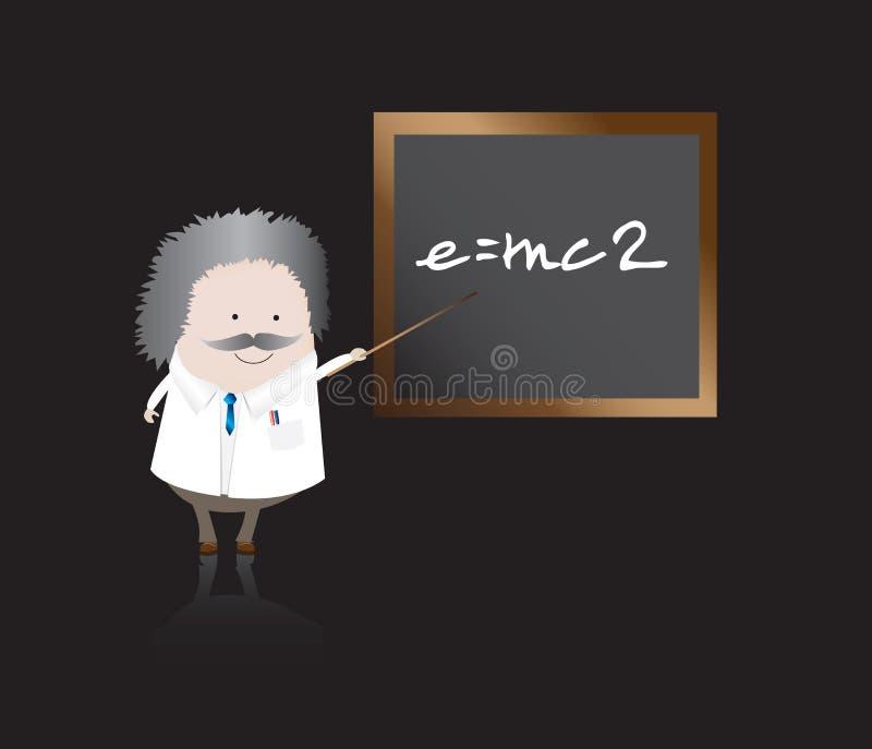 Download Professor with board stock vector. Image of grey, cartoon - 7896037