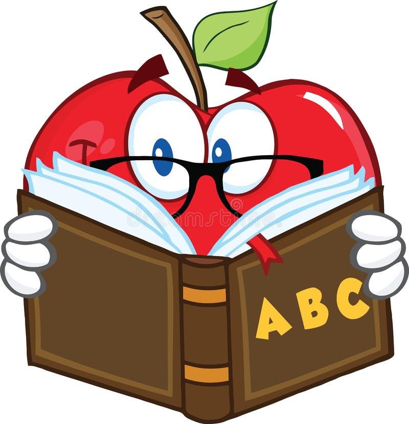 Professor Character Reading de Apple um livro ilustração royalty free