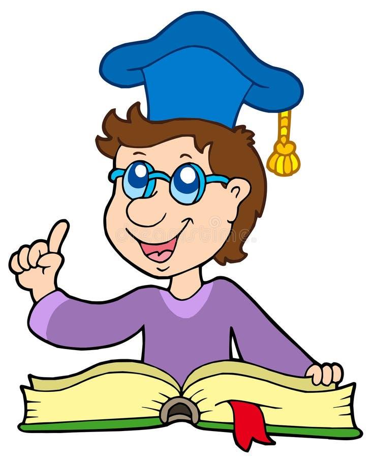 Professor com livro ilustração royalty free