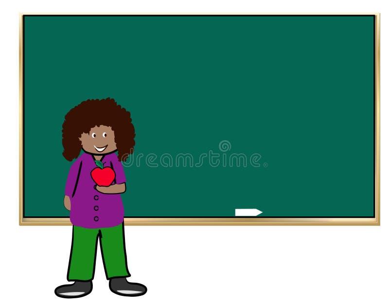 Professor com maçã ilustração royalty free