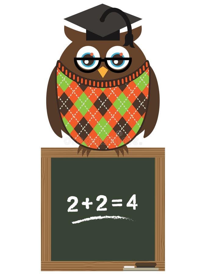 Professor da coruja ilustração do vetor