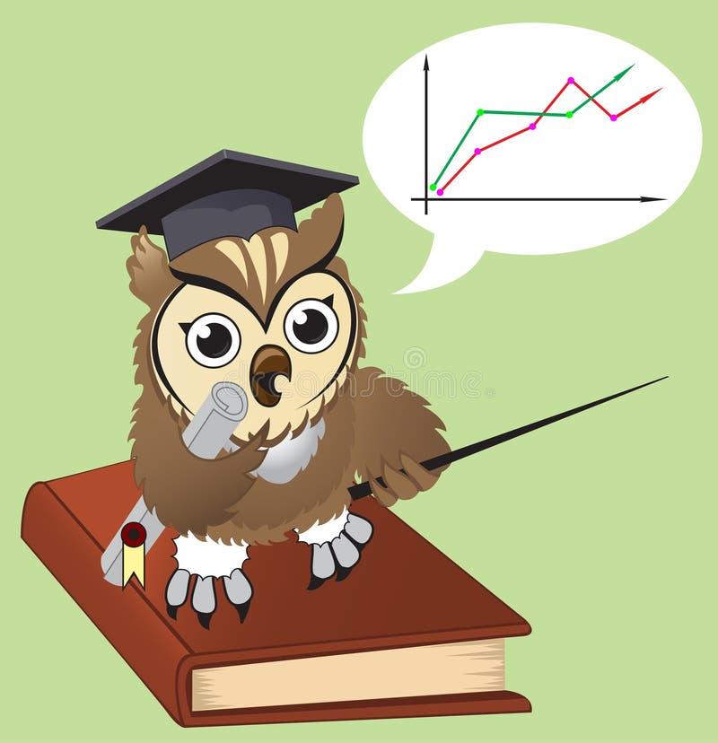 Professor da coruja ilustração stock