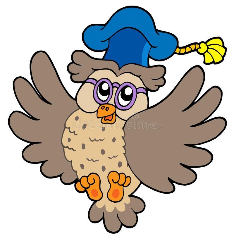 Professor da coruja do vôo ilustração stock