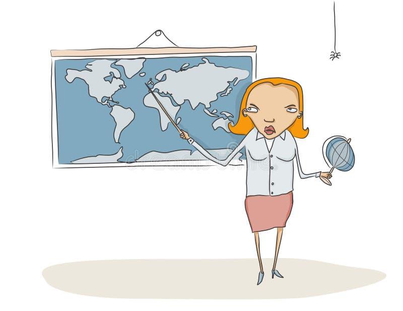 Professor da geografia ilustração do vetor