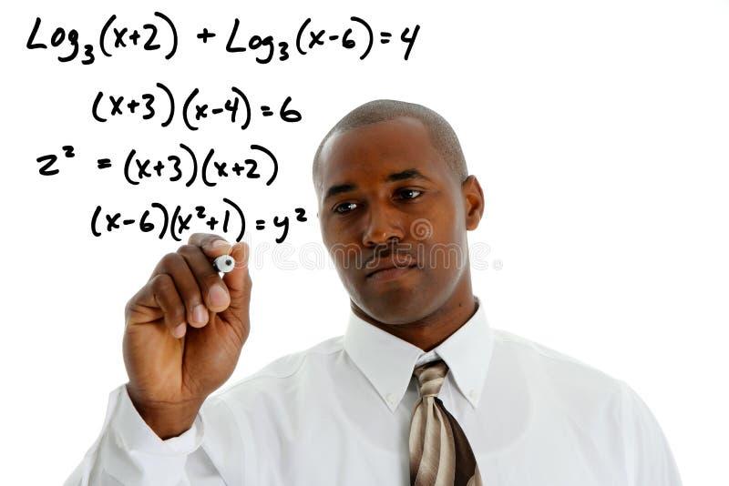 Professor da matemática fotografia de stock royalty free