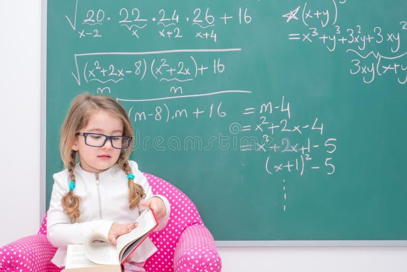 Professor da menina da criança fotografia de stock