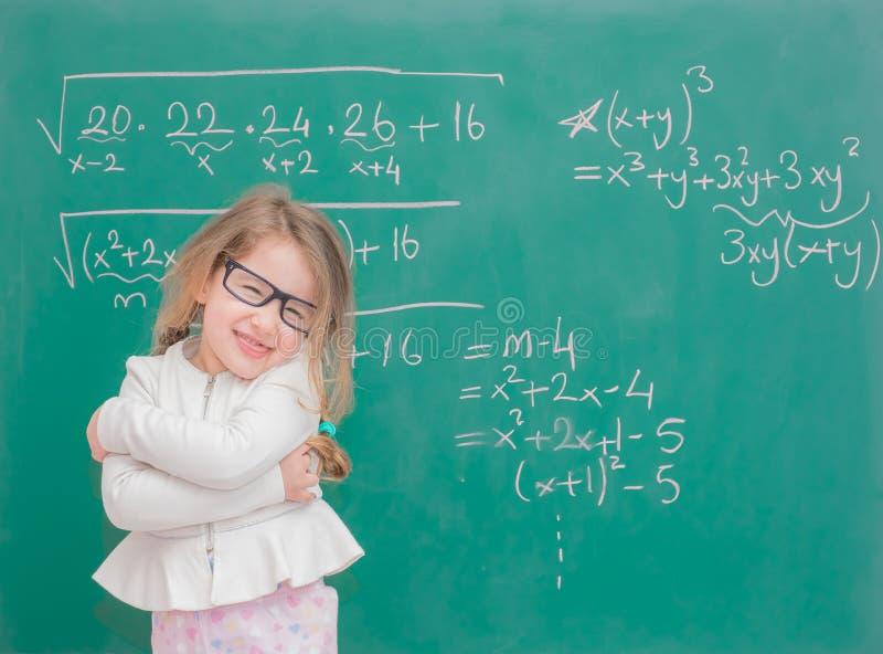 Professor da menina da criança foto de stock royalty free