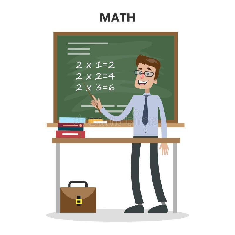 Professor de matemática ilustração do vetor