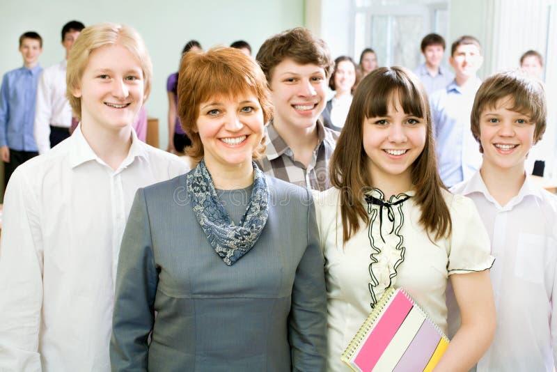 Professor e estudantes fotos de stock royalty free