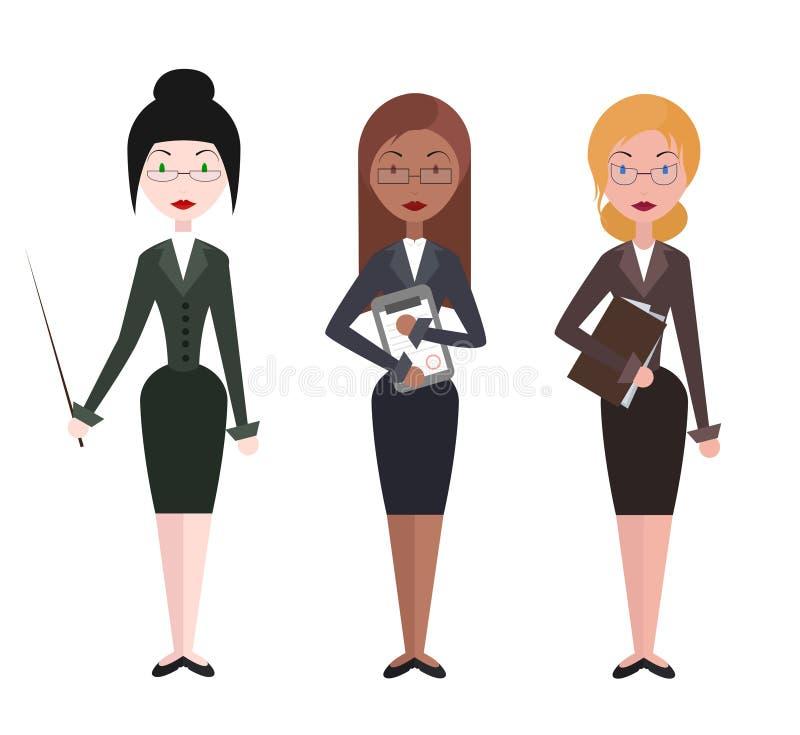 Professor fêmea ilustração stock