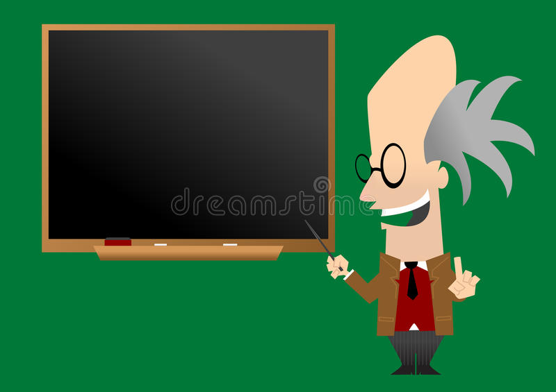 Download Professor In Front Of Blackboard Stock Vector - Illustration: 10189111