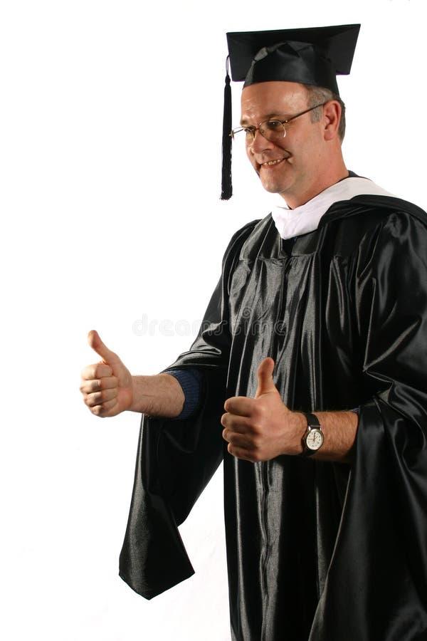 Professor in graduatiekledij royalty-vrije stock foto