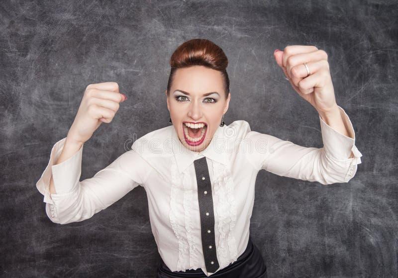 Professor gritando irritado foto de stock royalty free