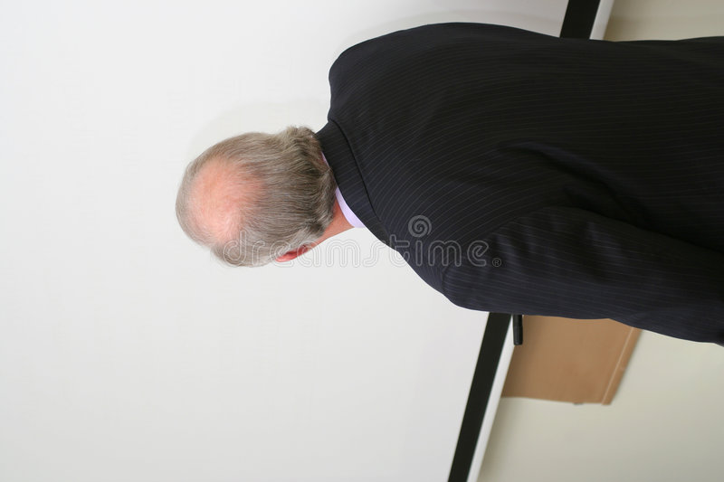 Download Professor Looking On The Blank Blackboard Stock Photo - Image: 1942466