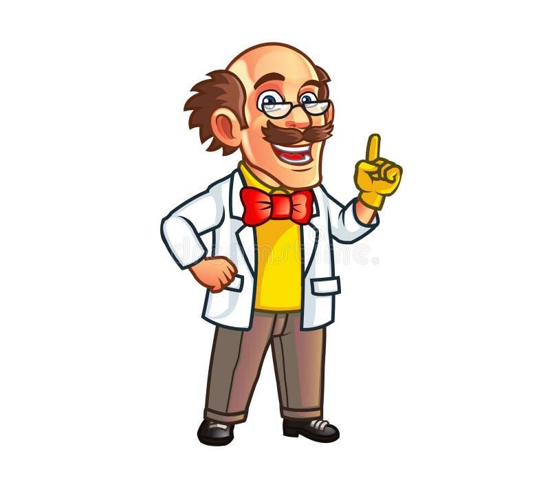 Professor Mascot vektor illustrationer