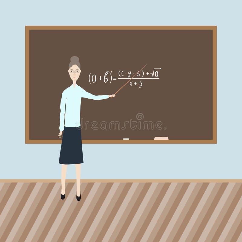 Professor na classe ilustração do vetor