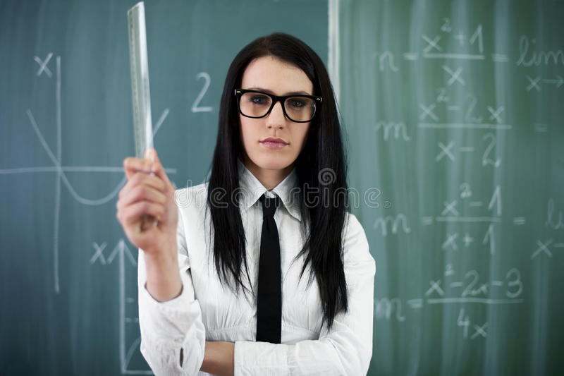 Professor novo médio foto de stock