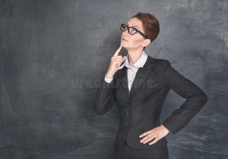 Professor pensativo fotos de stock royalty free