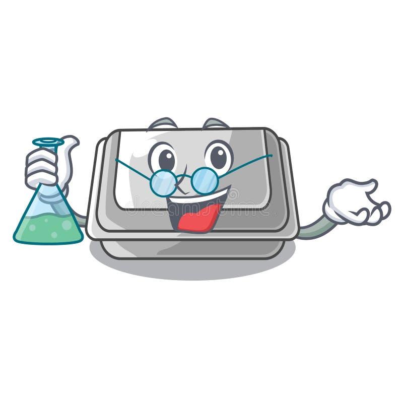 Professor plastic box in the mascot shape. Vector illustration stock illustration