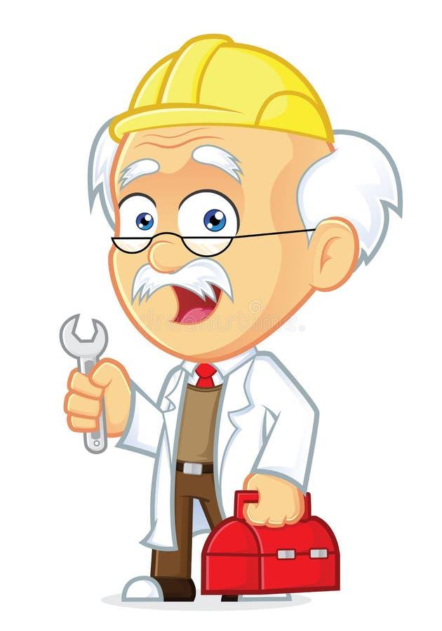 Professor Repairman vector illustratie