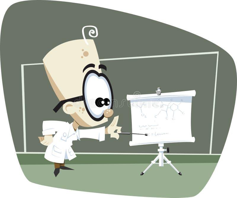 Download Professor Retro Da Ciência Dos Desenhos Animados Ilustração Stock - Ilustração de retro, escola: 10058350