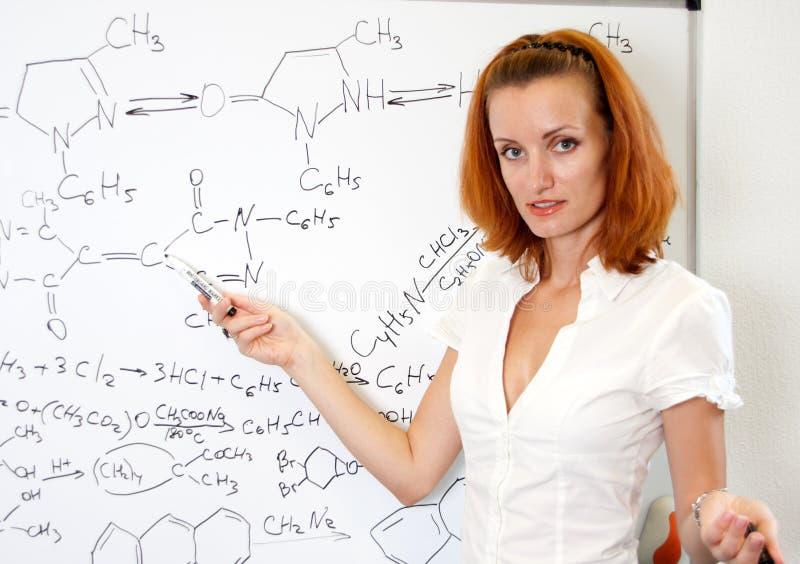 Professor 'sexy' da química fotografia de stock