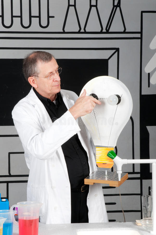 Download Professor Is Testing Electricity Stock Photo - Image: 10126866