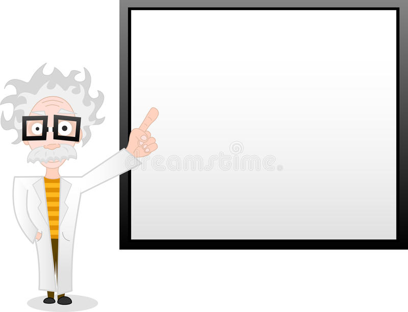 Download Professor and whiteboard stock vector. Image of construction - 9378469