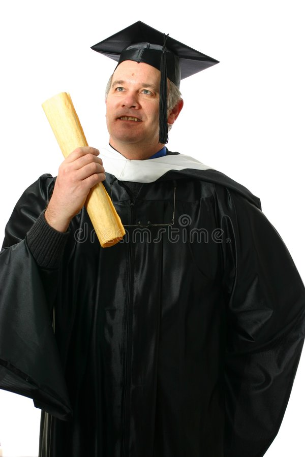 Free Professor With Diploma In Hand Stock Photos - 4170863