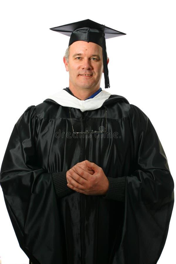 Professore con il gesto d'accoglienza immagine stock