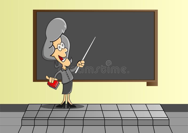 Professores a ensinar ilustração royalty free
