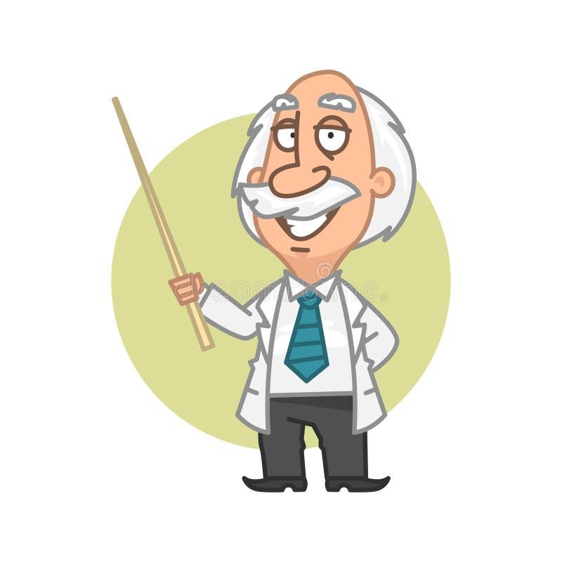 Professorinnehav i handpekare stock illustrationer