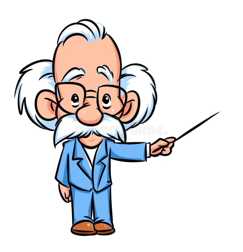 Professorlektor-Illustrationskarikatur lizenzfreie abbildung