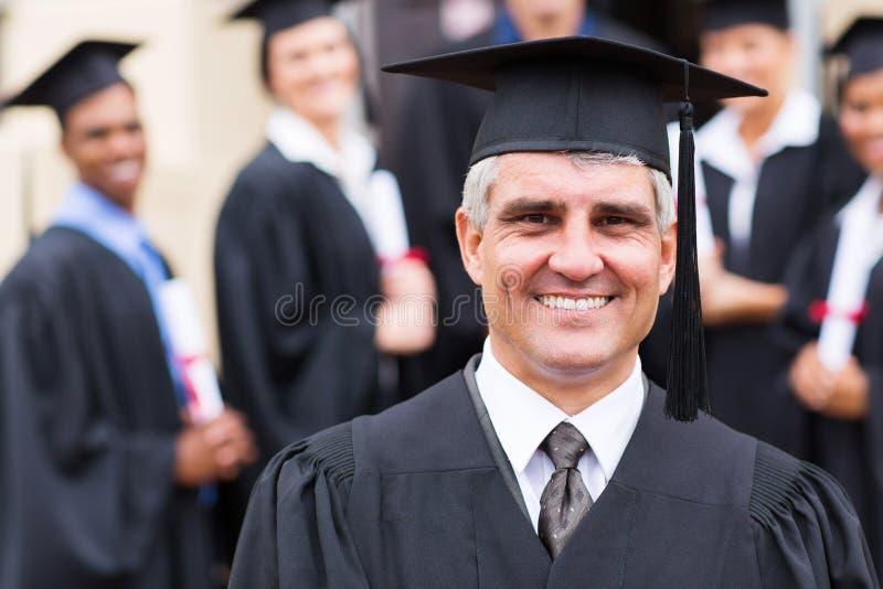 Professorsmensen met universitaire diploma's royalty-vrije stock afbeelding