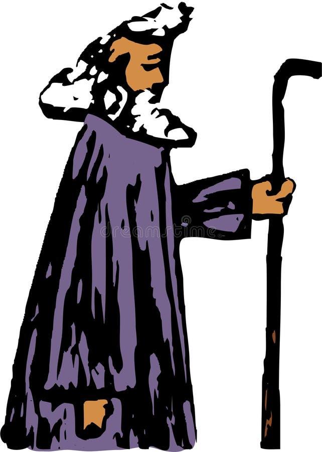 profet royaltyfri illustrationer