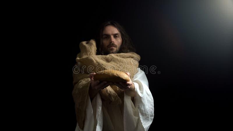 Profet daje chlebowi, poj?ciu pomoc i dobroci, wiara w bogu, dobroczynno?? fotografia royalty free