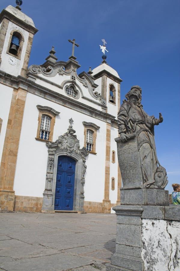 Profeta Jonas e a igreja Bom Jesus de Matosinhos fotografia de stock